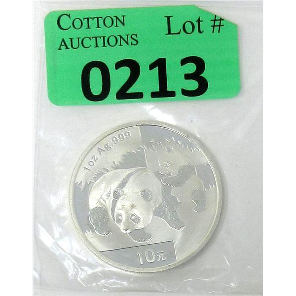 1 Oz..999 Silver Chinese Panda Coin
