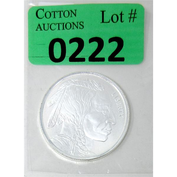 1 Oz. First Nations/Buffalo.9999 Silver Round