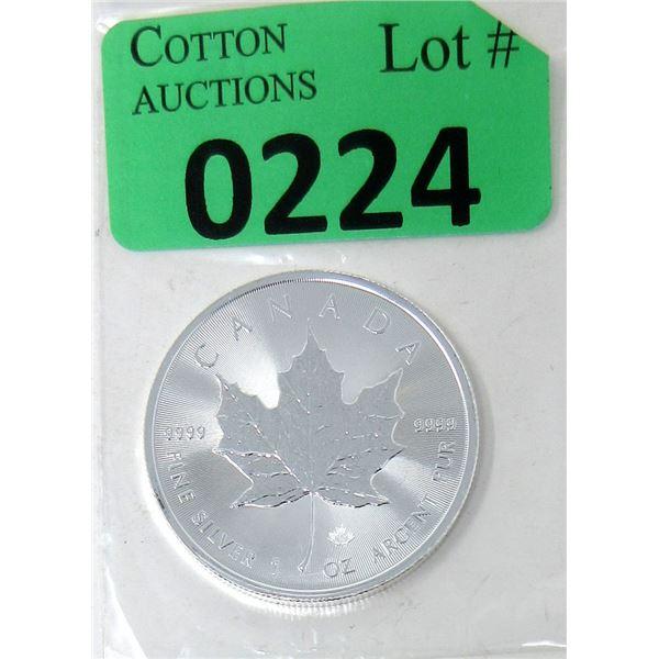 1 Oz. Canada .9999 Silver 2021 Maple Leaf Coin