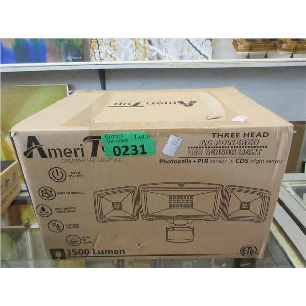 Ameri-Top 3 Head LED Sensor Security Light
