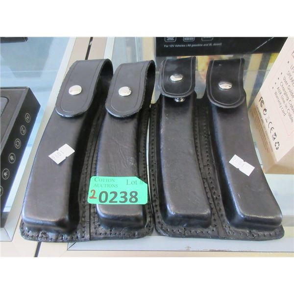 2 Double Leather Pouches