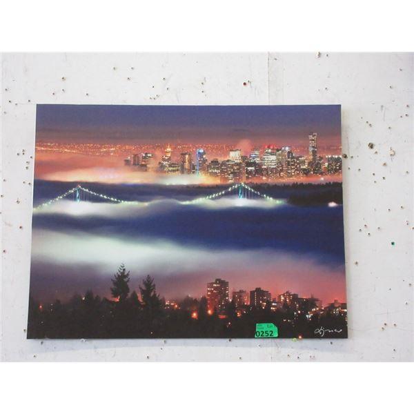 "New 24"" x 18"" Print on Board - City Scape"