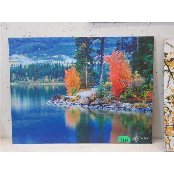 "New 24"" x 18"" Print on Board -  Lake View"