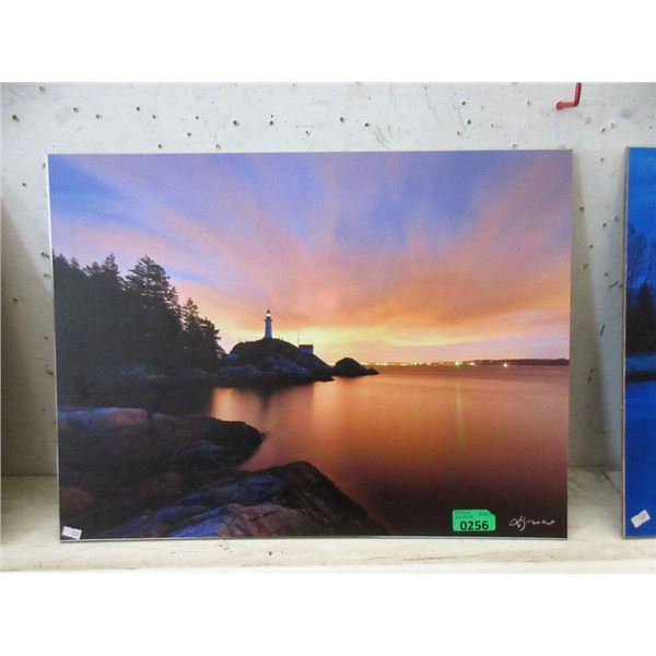 "New 24"" x 18"" Print on Board - Ocean Sunset"