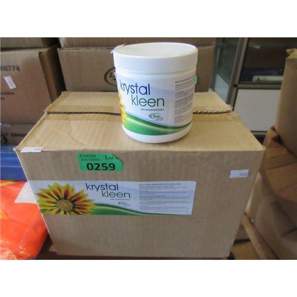 Case of 12 Krystal Kleen Biodegradable Cleaner