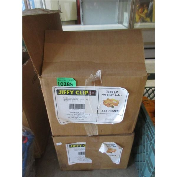 """2 Large Cases of New Jiffy Clips - Fits 5/8"""" Rebar"""
