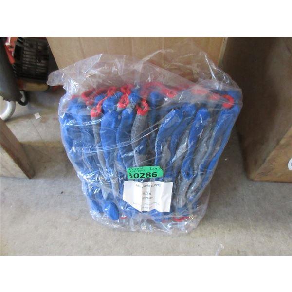 30 New Pairs of Crinkle Palm Work Gloves - Medium
