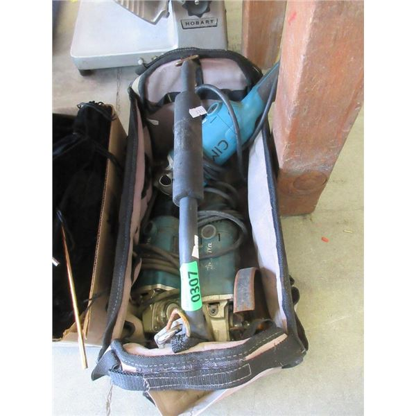 Tool Caddy with 3 Electric Grinders