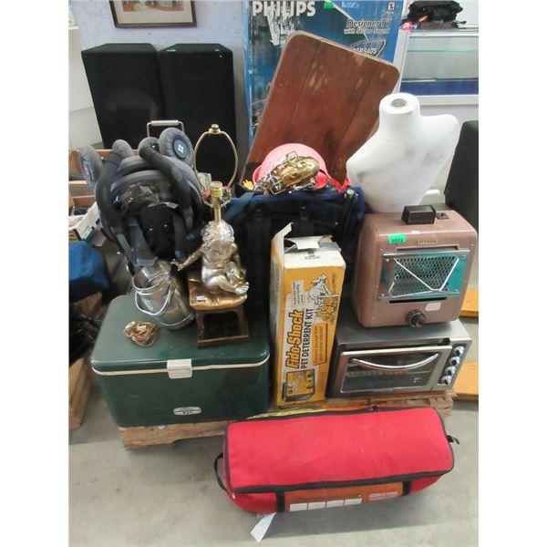 Skid of Assorted Storage Locker Goods