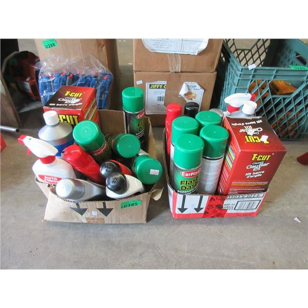 2 Boxes of New Car Cleaning & Detailing Products