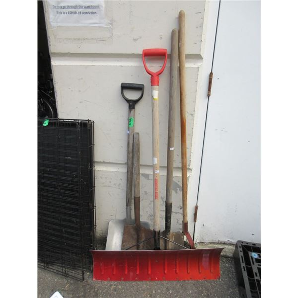 5 Assorted Shovels and Spades