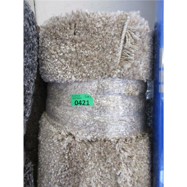 5' x 7' Beige Shag Area Carpet - Store Return