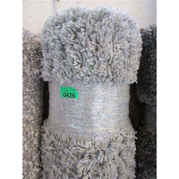 5' x 7' Light Grey Shag Area Carpet