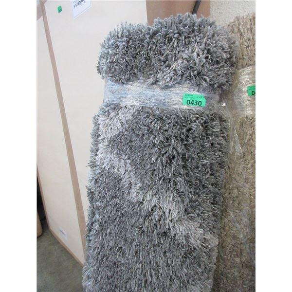 5' x 7' Grey Patterned Area Carpet