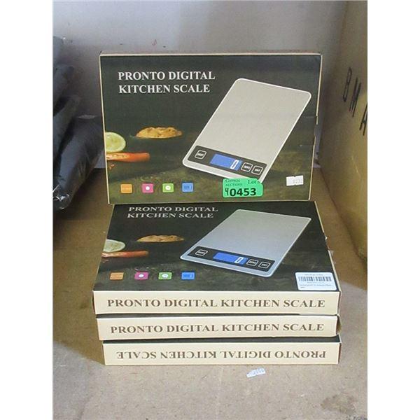 4 Pronto Digital Kitchen Scales