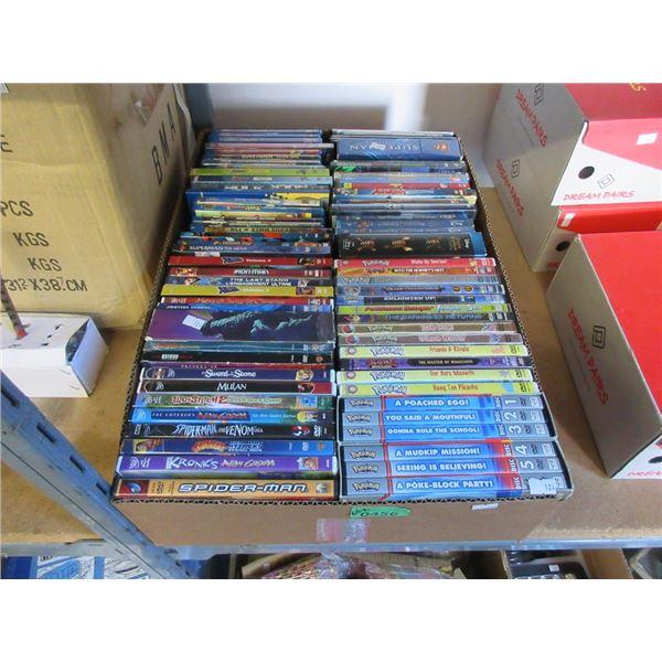 Box of 60+ Animated DVD Movies & TV Series