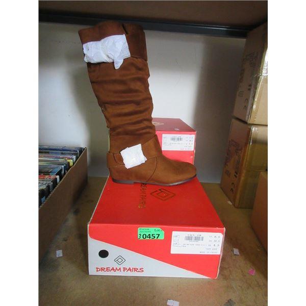 3 Pairs of Ladies Brown Suede Boots