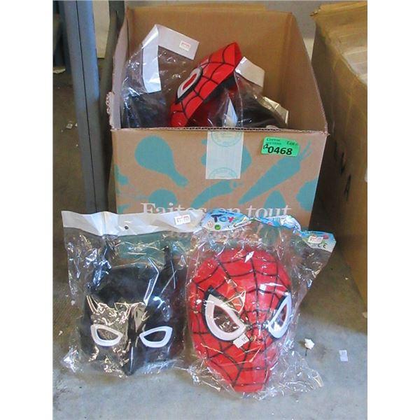 12 New Children's Spiderman & Blank Panther Masks