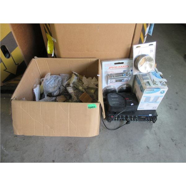 Box and 5 Pieces of  Assorted Electronics