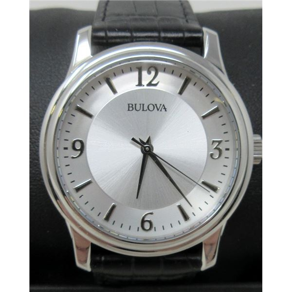 Men's New Bulova Watch with Leather Strap