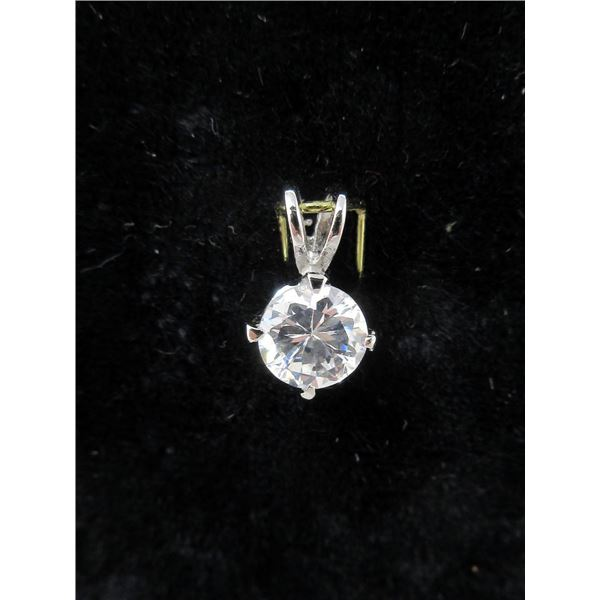 40 New 7mm Crystal Solitaire Pendants