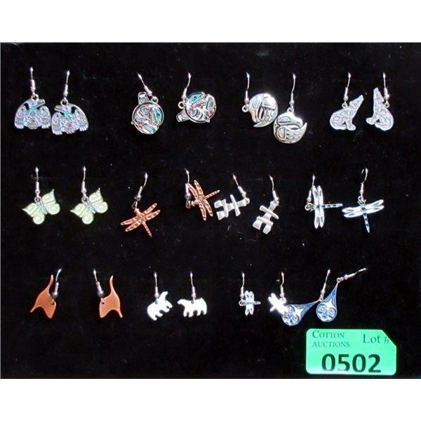 12 New Pairs of Frederick Design Metal Earrings