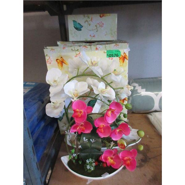 4 New Faux Orchid Plants