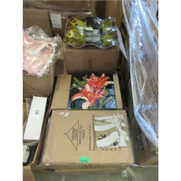 6 Cases of Art Glass, Ceramics and More