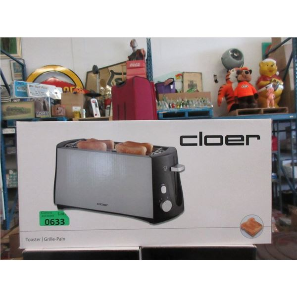 New Cloer Cool Touch Long Slot 4 Slice Toaster