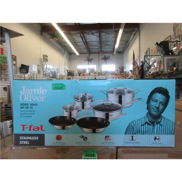 New Jamie Oliver T-Fal 10 Piece Cookware Set