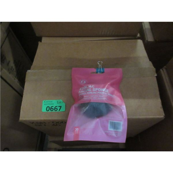 Case of 40 New Konjac Facial Sponges - Black