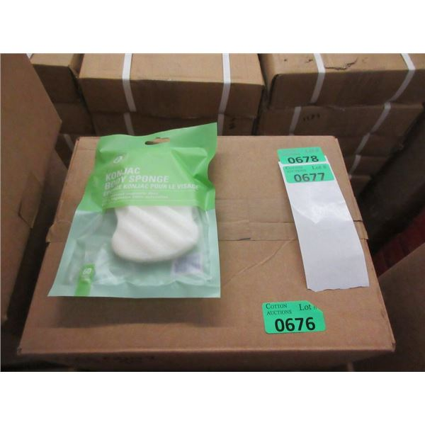 Case of 40 New Konjac Body Sponges - White