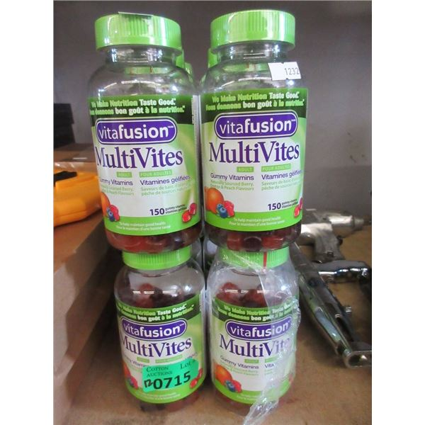 12 Bottles of 150 Gummy Multivitamins