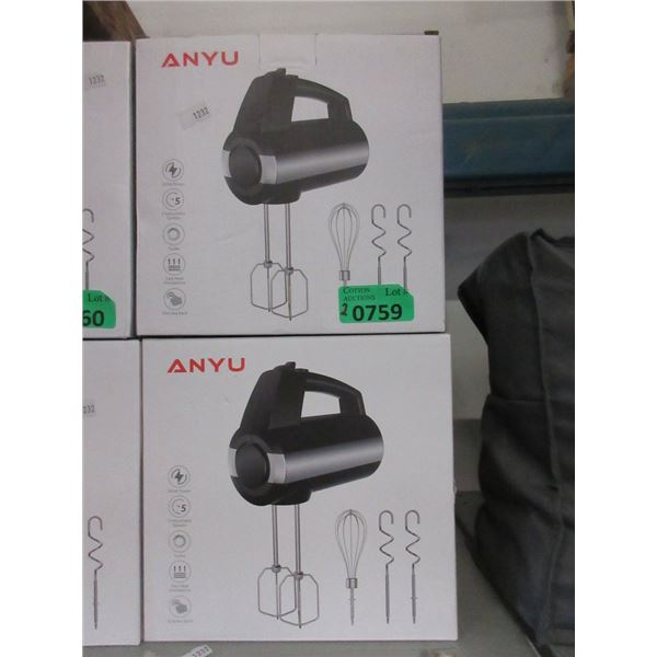 2 Anyu Hand Held Electric Mixers
