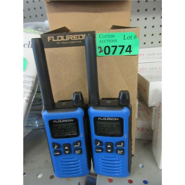 2 New Floureon Two Way Radio Sets