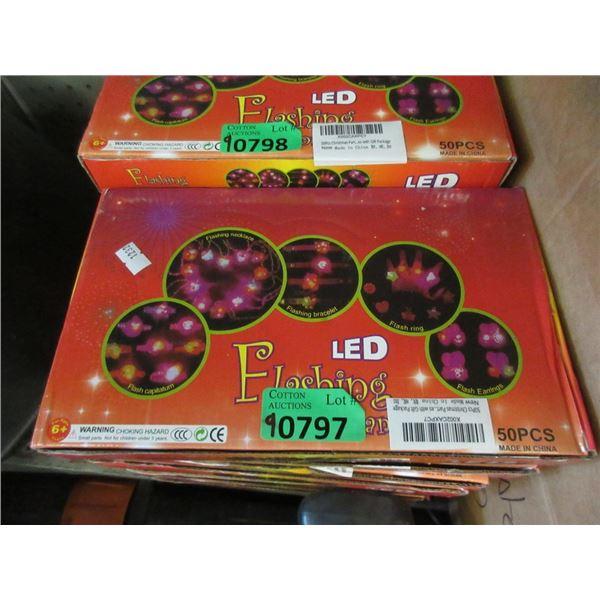 9 New Sets of  50 LED Flashing Jewelry