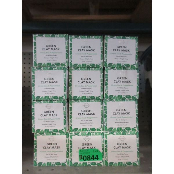 12 x 50 ml Green Clay Mask- Green Tea & Peppermint