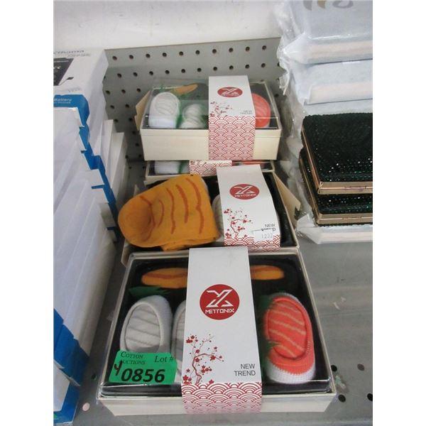 4 New Sushi Sock Gift Sets