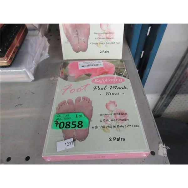 7 Boxes of Foot Peel Masks - 2 Pairs per box.