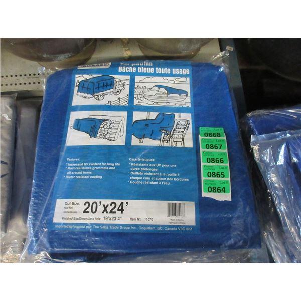 New 20' x 24' Blue Western Rugged Tarp