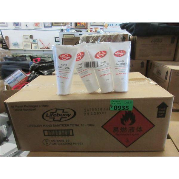 6 Cases of 48 x 50ml Lifebuoy Hand Sanitizer Tubes