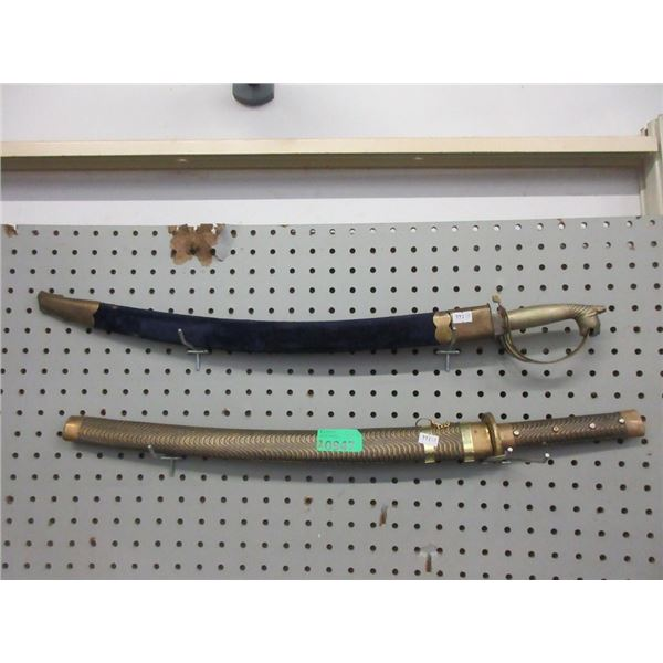 """Two 18"""" Swords with Sheaths"""
