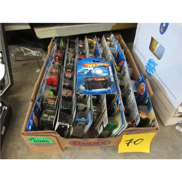 70 Assorted Hot Wheels in Sealed Packages