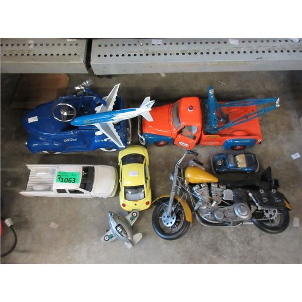 7 Assorted Toy Vehicles