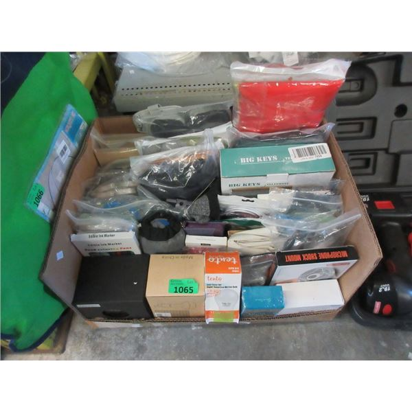 Box of Assorted Household Goods & Clothing