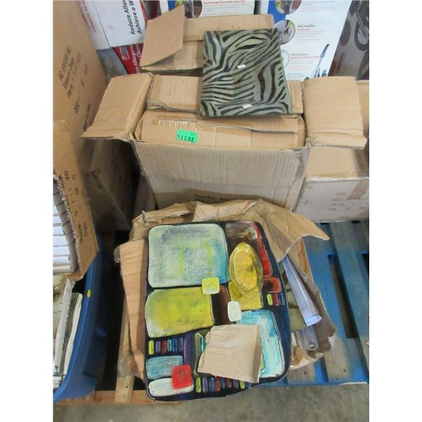 3 Cases of New Art Glass Plates