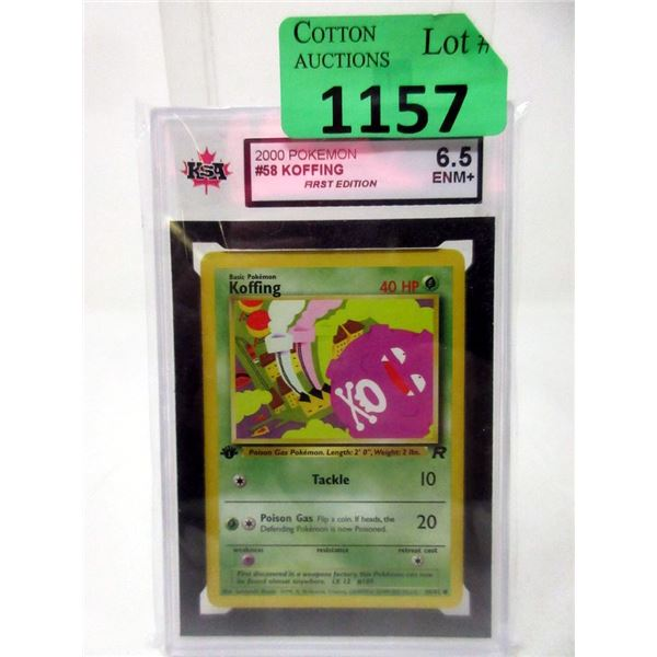 Graded Pokemon #58 Koffing 1st Edition Card
