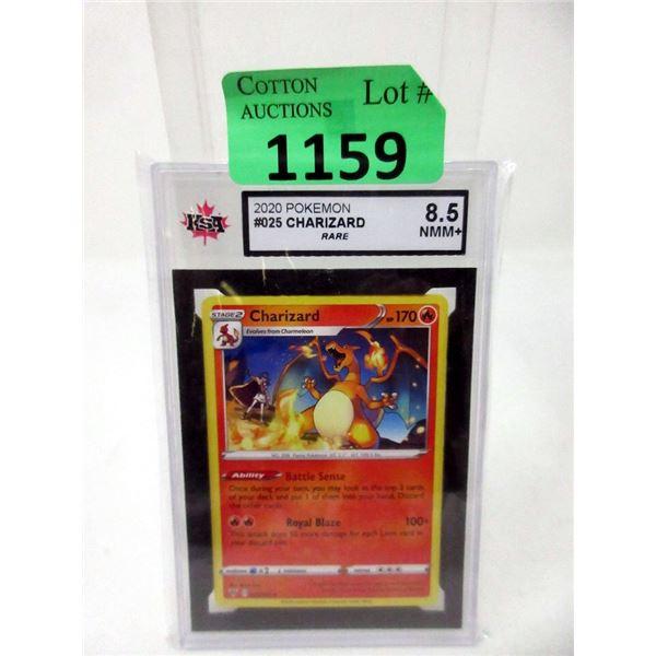 Rare Graded Pokemon #025 Charizard Card