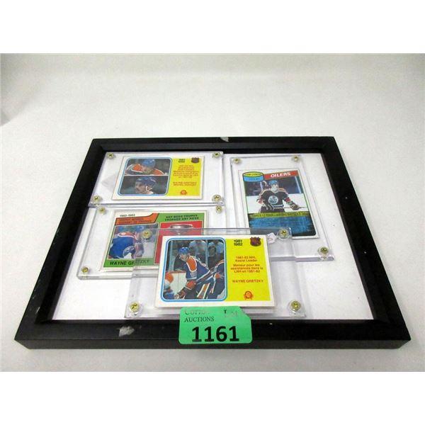 4 Wayne Gretzky Hockey Cards in Cases