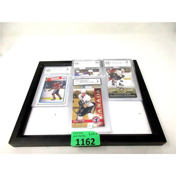 4 Graded Hockey Cards in Cases